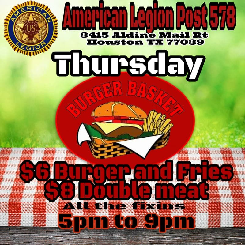 Post 578 Burger and Fries @ American Legion Post 578