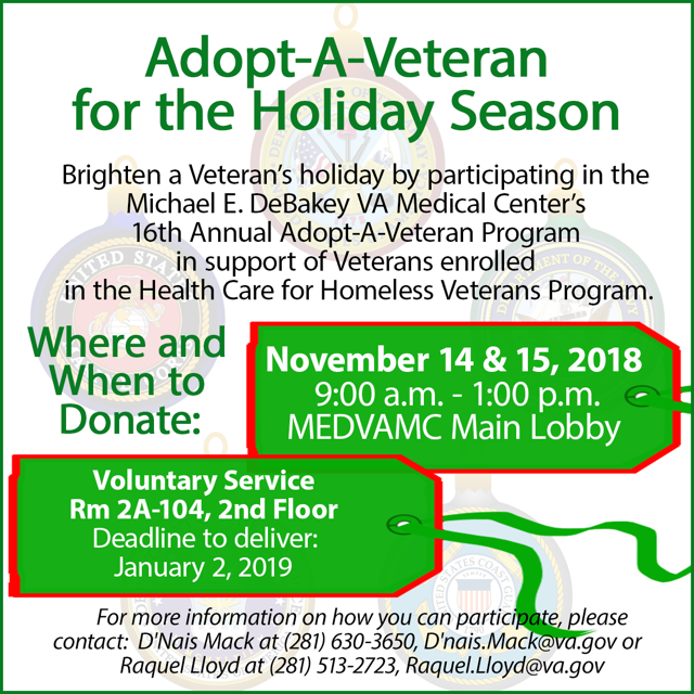 Adopt-A-Veteran @ Michael E. DeBakey VA Medical Center